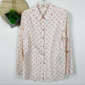 Chicos size 2 (Large) seashell button down